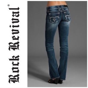 ROCK REVIVAL Alanis Boot Jeans Sequin {S51}